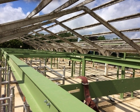 Steel work ready for Joists