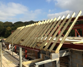 First Rafters instaled by Arun Carpentry