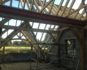 Internal view of Roof, Arun Carpentry
